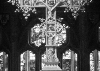 Altar cross at St Mary Redcliffe church