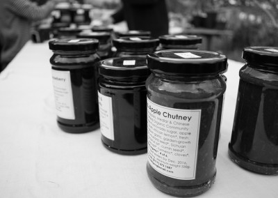 A selection of jars of chutneys