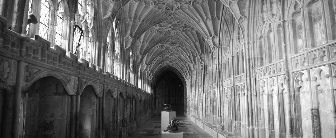Altars of Stone - Abbots Cloister at Gloucester cathederal