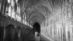 The Abbots Cloister at Gloucester Cathedral
