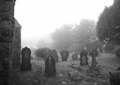 The graveyard round the back of Horfield Church