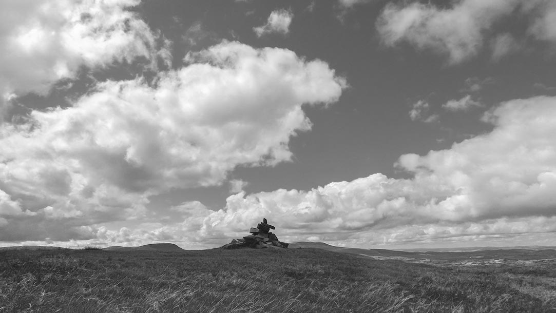 Cairn at Fan Fawr in the Brecon Beacons