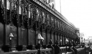 The Choir in the Presbytery at Gloucester Cathedral