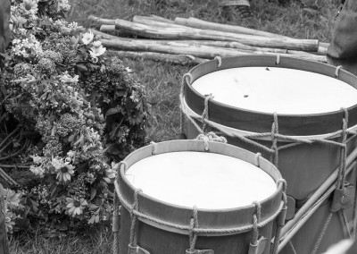 May day garland and drums