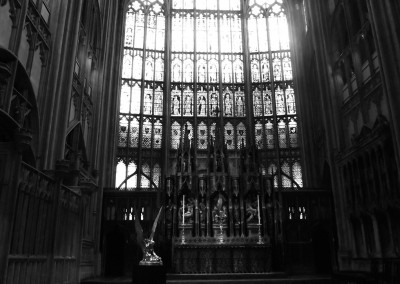The Altar and East Window in the Presbytery at Gloucester Cathedral