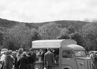 A posh drinks van at the Malvern show