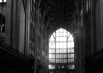 View of the Lady Chapel and East Window from the Presbytery at Gloucester Cathedral