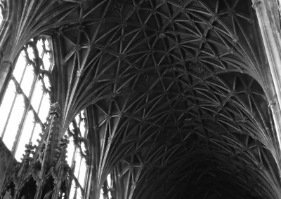 South Transept roof at Gloucester Cathedral