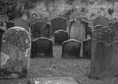 View of the graveyard at St Marys church Henbury