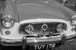 A vintage car at the Malvern show