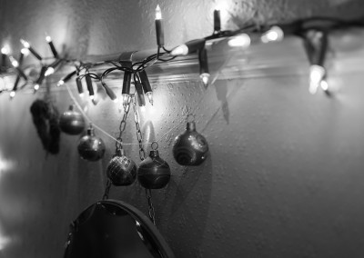 Christmas lights and baubles