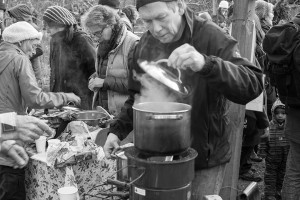 Hot apple punch making at Horfield Wassail