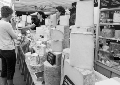 A cheese stall in the food hall at the Malvern Show 2016