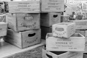 Aselection of wooden boxes at the Malvern Show 2016