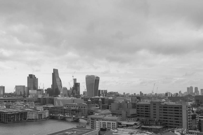 The view from the top of Tate Modern, London 2017