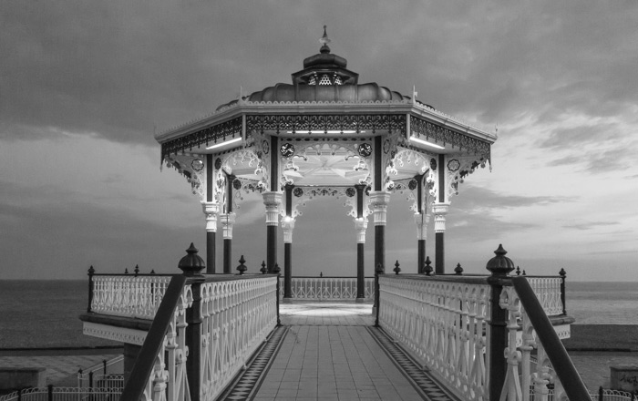Bandstand on Brighton beach in the early evening light
