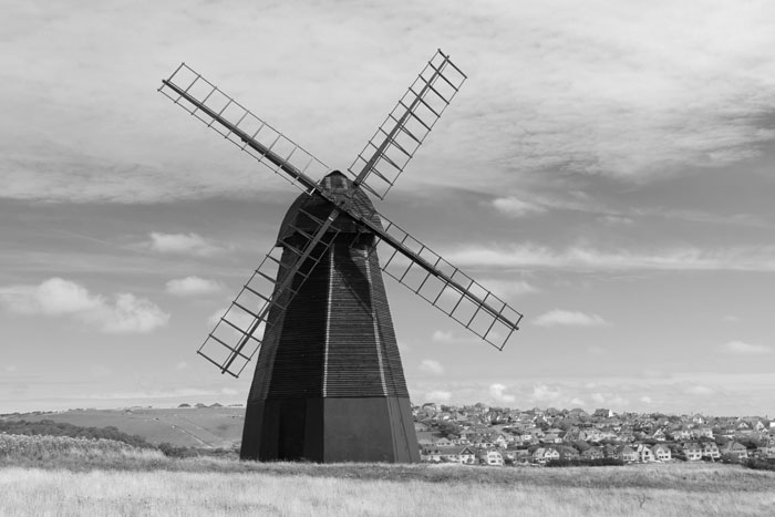 The old windmill on the hill overlooking Rottingdean