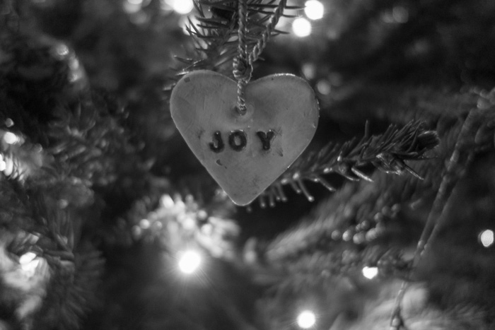'Joy' a Christmas tree decoration