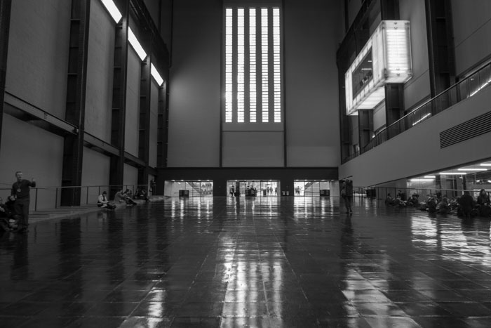 Inside the entrance to Tate Modern- London 2019