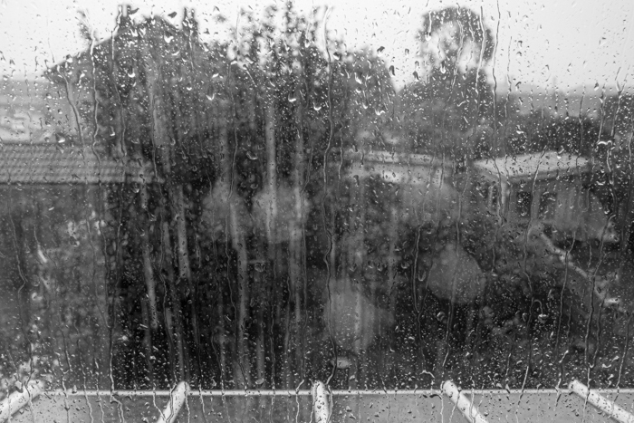 The rain hammering down on the window after a long drought in June